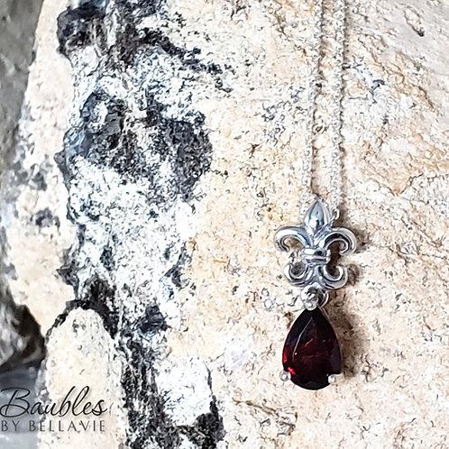 Denise Garnet Pendant & Chain