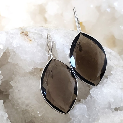 Mona Smoky Quartz Earrings
