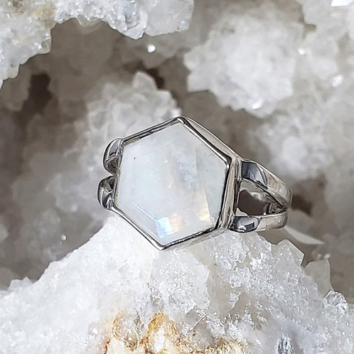 Bethany Rainbow Moonstone Ring