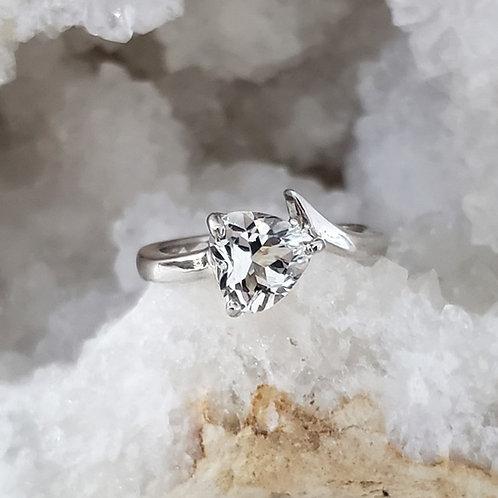 Stassia White Topaz Ring