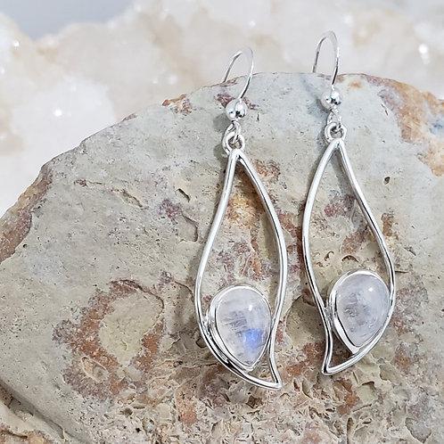 Iris Rainbow Moonstone Earrings