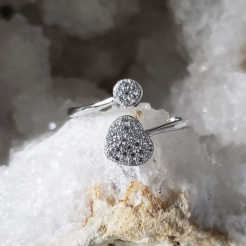 BE YOU Sparkle Heart Ring