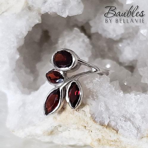 Autumn Garnet Ring
