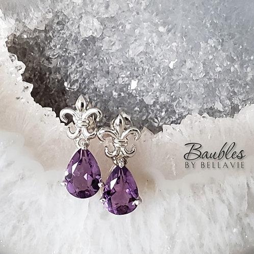 Denise Amethyst Earrings