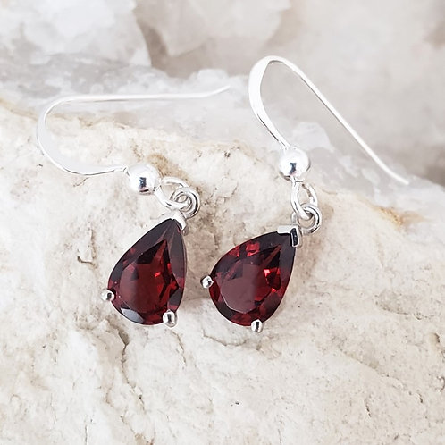 Rebecca Garnet Earrings