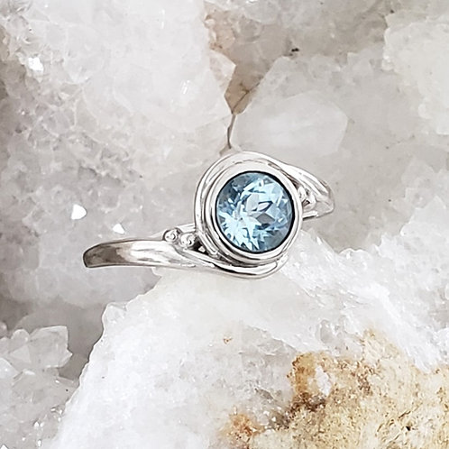 Ellie Blue Topaz Ring