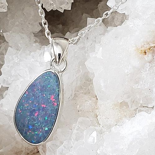 Australian Opal Pendant & Chain