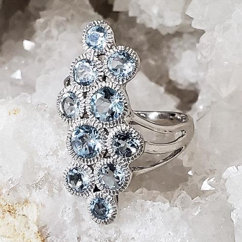 Celeste Blue Topaz Ring