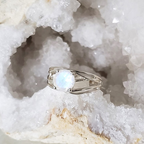 Celia Rainbow Moonstone Ring