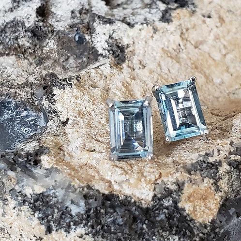 Diana Blue Topaz Earrings