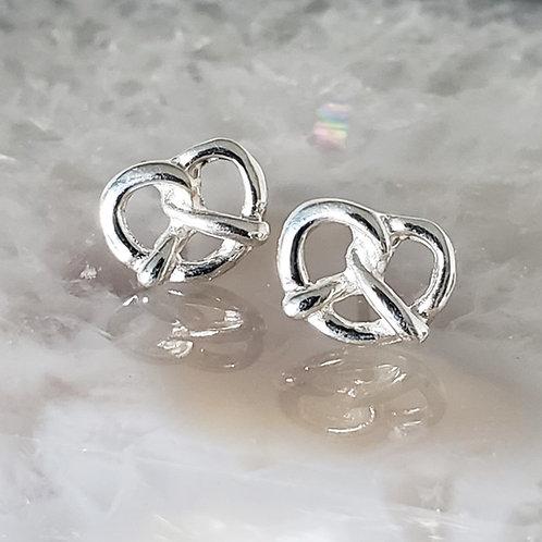 Leni Pretzel Stud Earrings