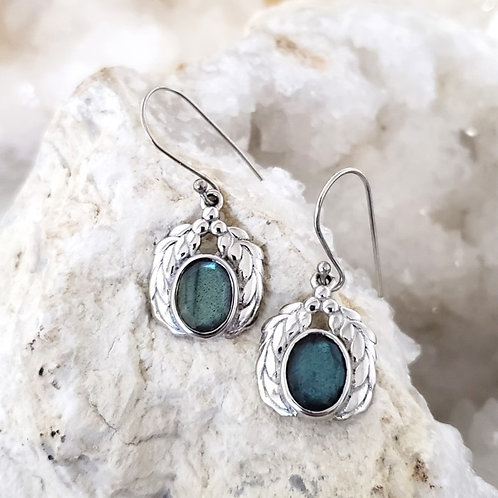 Helena Labradorite Earrings