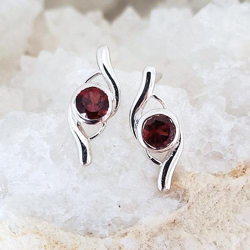 Tara Garnet Stud Earrings