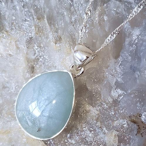 Hali Aquamarine Pendant & Chain