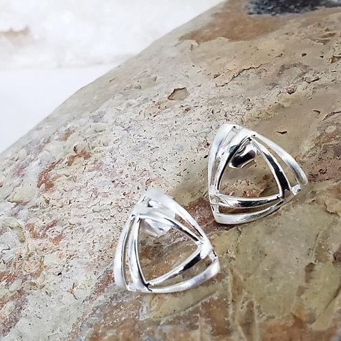 Echo Satin Stud Earrings