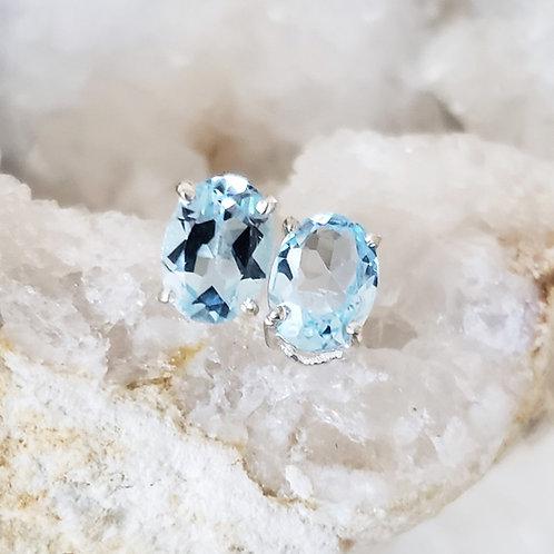 Miranda Earrings - Blue Topaz