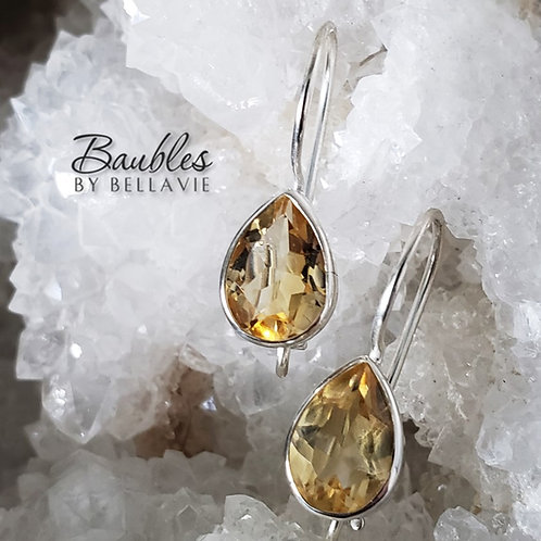 Soleil Citrine Earrings