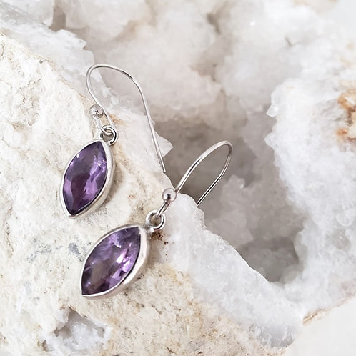 Marq Earrings - Amethyst