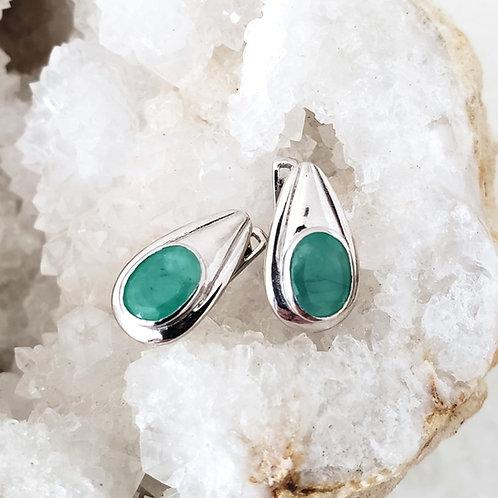 Christina Emerald Earrings