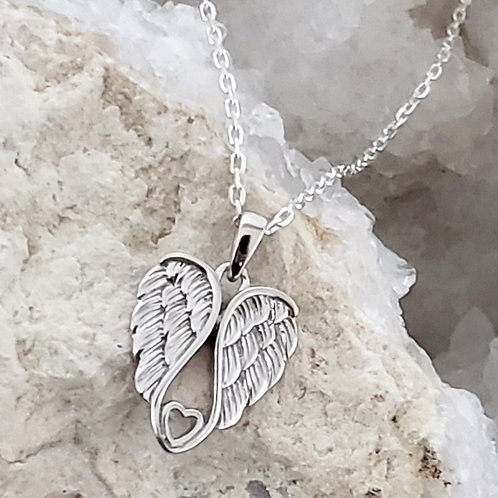 Angel Wings Pendant & Chain