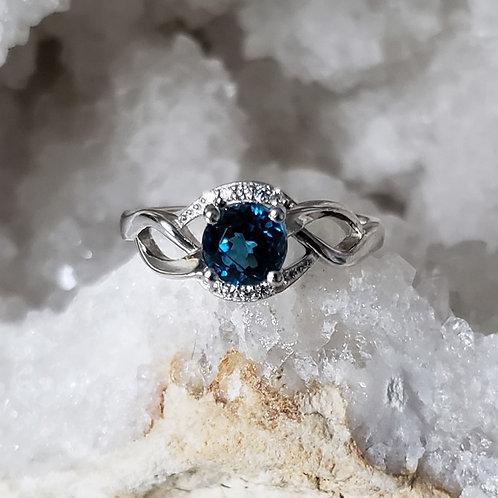 Veronica London Blue Topaz Ring