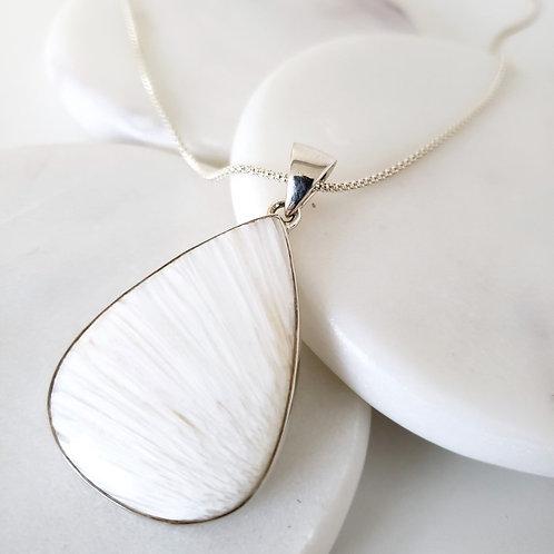 Blanca Scolecite Pendant & Chain