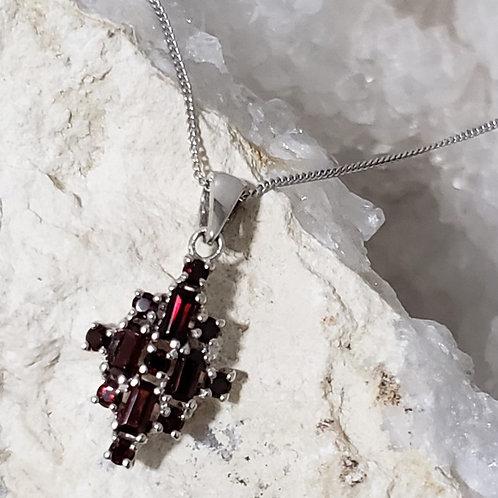 Garnet Pendant & Chain