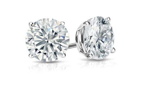 7 MM Round Cut Sterling Silver Stud Earring AAA Grade Cubic Zirconia