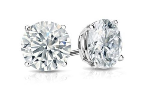 7 MM Round Sterling Silver Stud Earring AAA Grade Cubic Zirconia