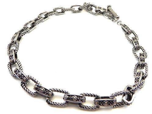 "Bali Designer Inspired 2-Tone Heavy Link Toggle 18"" Necklace"