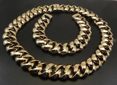News Anchorwoman Gold Tone Necklace & Bracelet Set