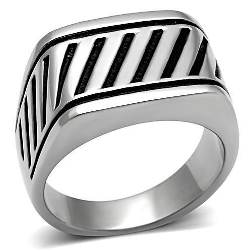 Stainless Steel Men's Ring Size 8-13