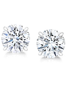 Sterling Silver CZ Earring 8 MM Round