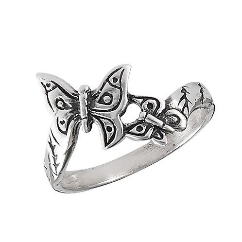 Sterling Silver Sweet-Fun Butterfly Ring Size 7