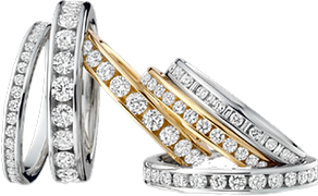ring group Eternity Bands CZ Stainless Steel Rings