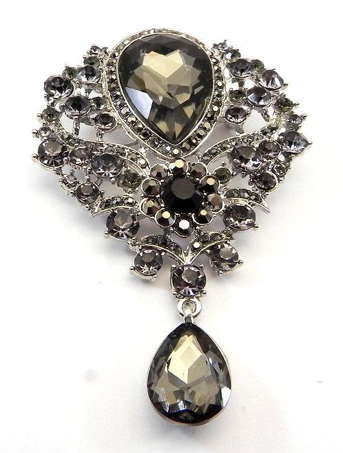 Elegant Black Diamond Crystal Italian Designer Inspired & Austrian Crystals
