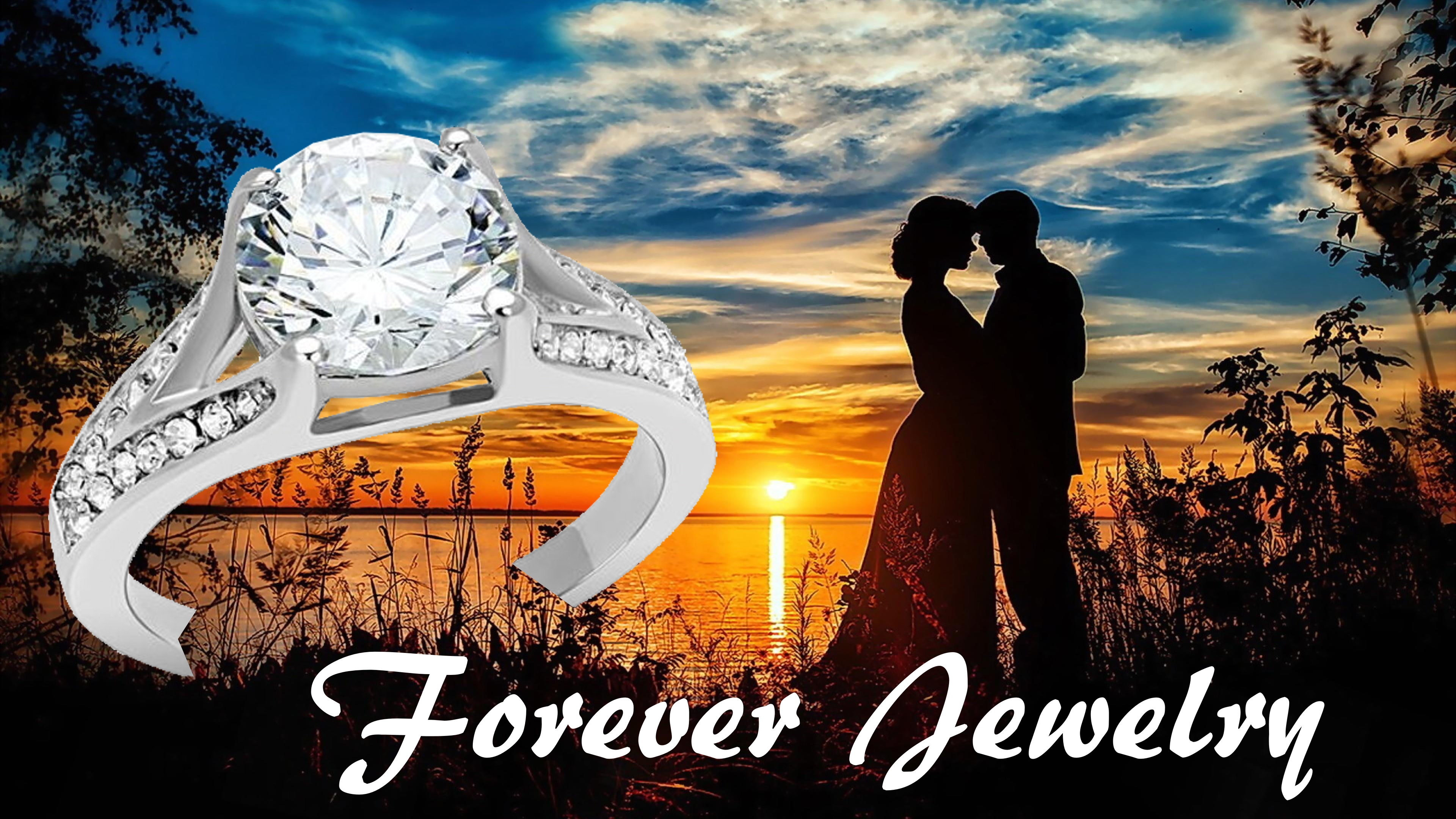 Stainless steel Engagement CZ Ring with Pave