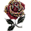 Thumbnail: Shimmering Rose Silver Tone Pave Austrian Crystals Brooch