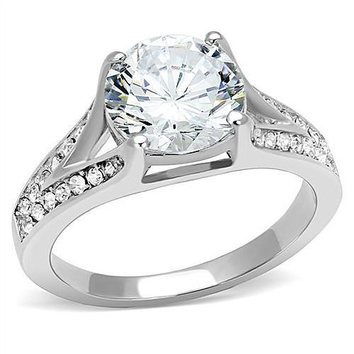 4.68ctw Round Cut & French Set CZ's Engagement Ring Women Sz 5-9
