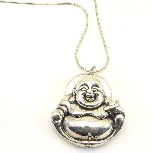 Sterling Silver 925 Happy Buddha Pendant