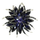 Thumbnail: Elegant Crystal Brooch Dark Amethyst Marquise Austrian Crystal Stones