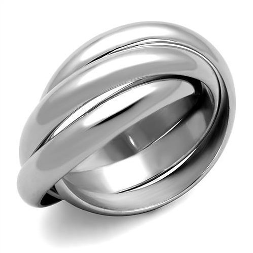 Designer Inspired Triple Rolling Band Stainless Steel Promise-Engagement Sz 5-10