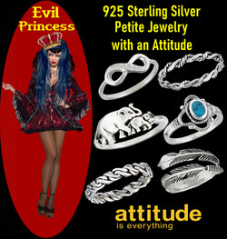 Evil Princess Stackable Silver Jewelry
