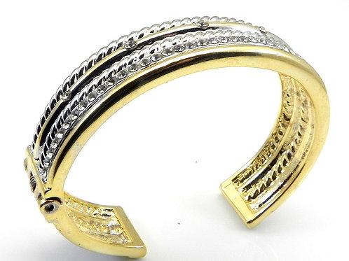 CableDesigner Inspired Gold Tone & Pave Austrian Crystal Bracelet