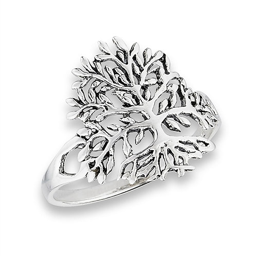 Sterling Silver Petite-Dainty Tree of Life Ring Size 7