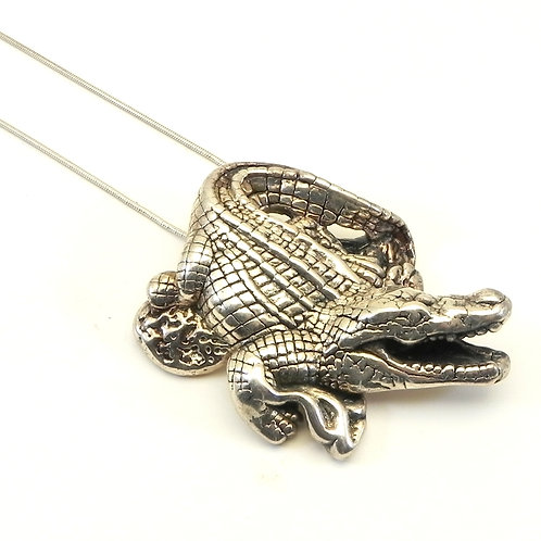 Sterling Silver 925 Alligator Pendant