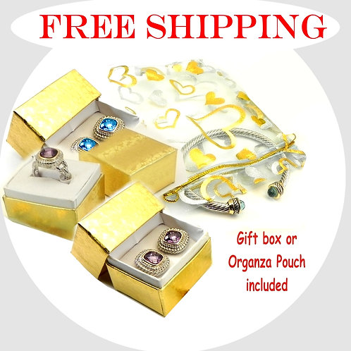 FREE SHIPPING PLUS READY TO GIFT ORGANZA POUCH OR BOX