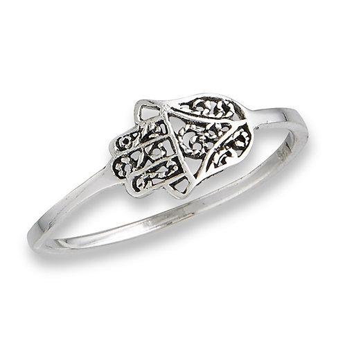 Sterling Silver Very Delicate Sterling Silver Hamsa Ring