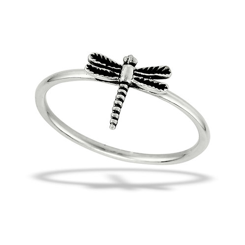 Sterling Silver Tiny-Petite Hovering Dragonfly Ring Size 7