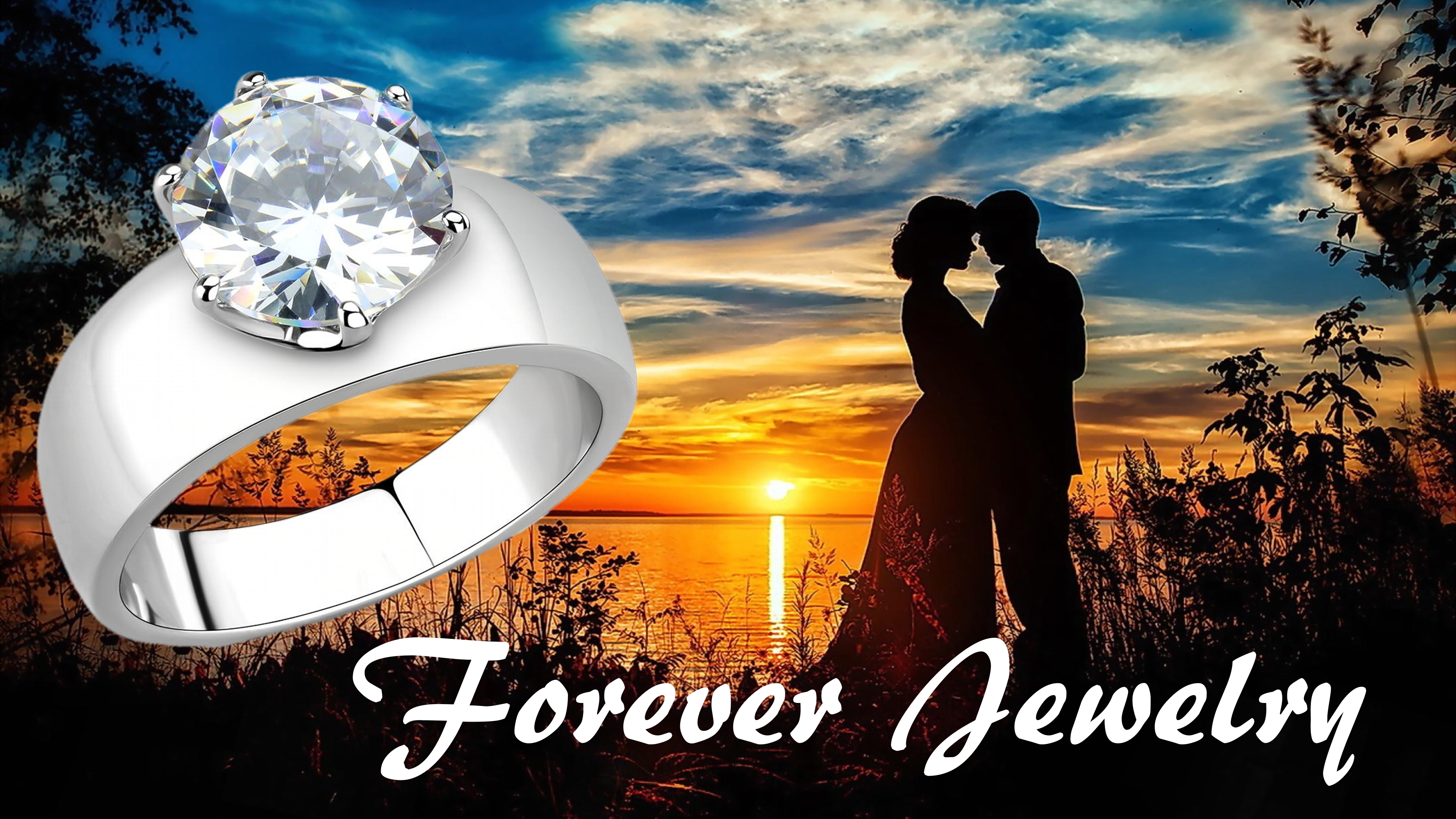 Bridal Stainless Steel Ring Engagement Bride-Groom realimpostersjewelry.com